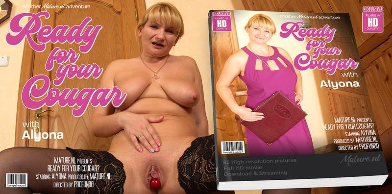 Mature.nl - Alyona (35) - Blonde mature Cougar Alyona loves to show you her wet pussy, but you must sit still as she undresses [SD / Blonde /  2020]