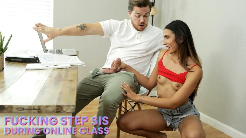 BrattySis.com - Angelica Cruz - My Step Sister Sucked My Dick During Online Class [SD / Blowjob /  2020]