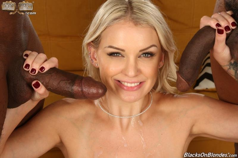 BlacksOnBlondes.com - Kenzie Taylor - Two Big Black Cock [SD / Blonde /  2020]
